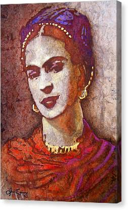 Frida  Canvas Print by J- J- Espinoza