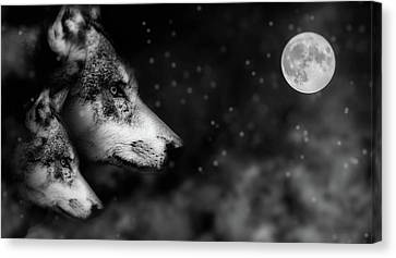Eerie Canvas Print - Full Moon by Mountain Dreams