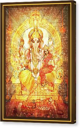Ganesha Ganapati - Success Canvas Print