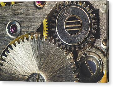 Gearwheel From Old Clock Canvas Print by Y K