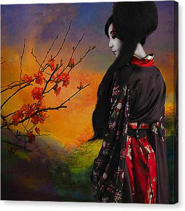 Geisha With Quince Canvas Print by Jeff Burgess