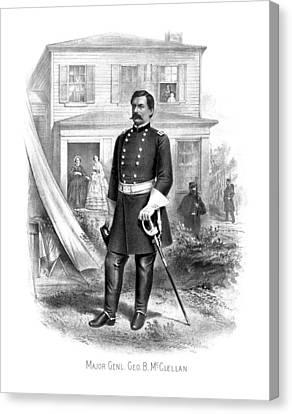 Warishellstore Canvas Print - General George Mcclellan by War Is Hell Store