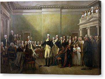 General George Washington Resigning His Commission Canvas Print by John Trumbull