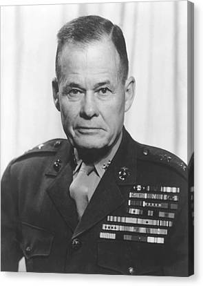 General Lewis Chesty Puller Canvas Print by War Is Hell Store