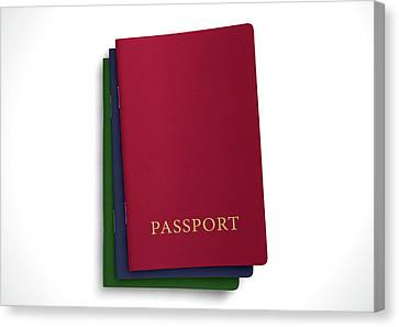 Generic Passport Stack  Canvas Print by Allan Swart