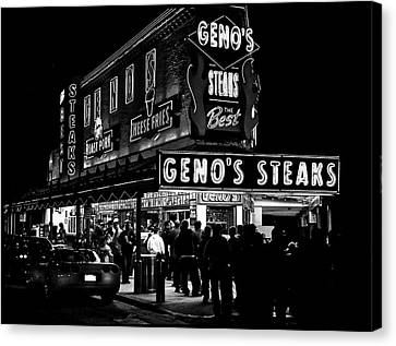Fast Food Canvas Print - Geno's In Philly by Mountain Dreams