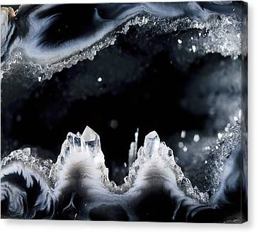 Geode Interior Canvas Print by Dirk Wiersma