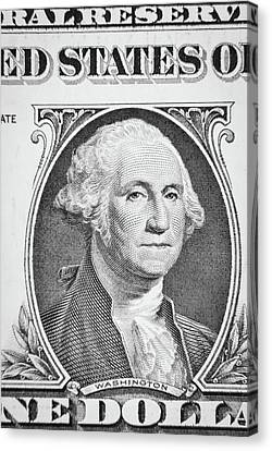 Canvas Print featuring the photograph George Washington by Les Cunliffe