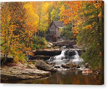 Glade Creek Grist Mill - Fall Canvas Print