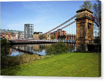 Canvas Print featuring the photograph Glasgow by Jeremy Lavender Photography
