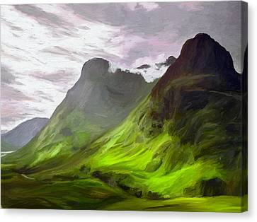 Glen Coe Canvas Print by James Shepherd