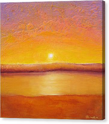 Gold Sunset Canvas Print by Jaison Cianelli
