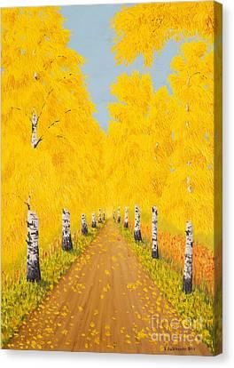 Golden Autumn Canvas Print by Veikko Suikkanen