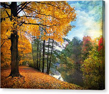 Country Lanes Canvas Print - Golden Carpet by Jessica Jenney