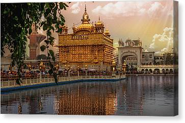 Golden Temple  Canvas Print by Manjot Singh Sachdeva