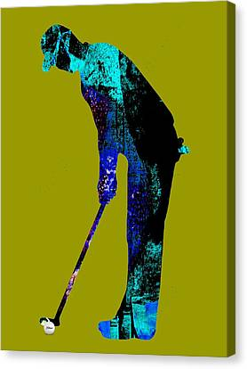 Golf Collection Canvas Print by Marvin Blaine