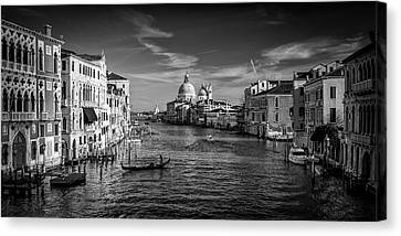 Gondola On The Grand Canal Canvas Print
