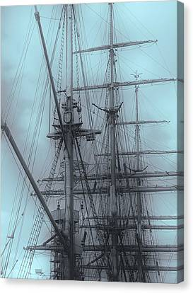 Canvas Print featuring the photograph Gorch Fock ... by Juergen Weiss