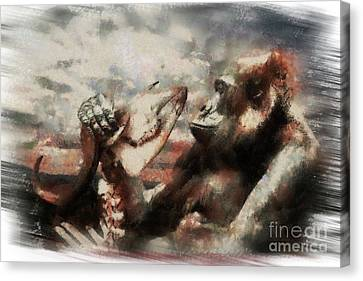 Canvas Print featuring the photograph Gorilla  by Christine Sponchia