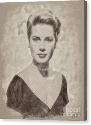 Grace Kelly Canvas Print - Grace Kelly, Actress And Princess by John Springfield
