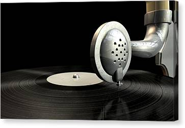 Gramophone And Record Canvas Print