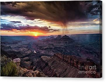 Grand Canyon Monsoon Sunset Canvas Print