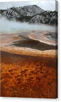 Grand Prismatic Pool In Yellowstone National Park Canvas Print by Pierre Leclerc Photography