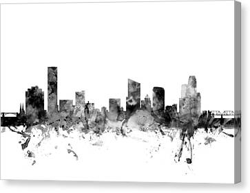 Grand Rapids Michigan Skyline Canvas Print by Michael Tompsett