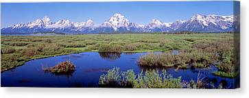 Grand Teton Park, Wyoming, Usa Canvas Print by Panoramic Images