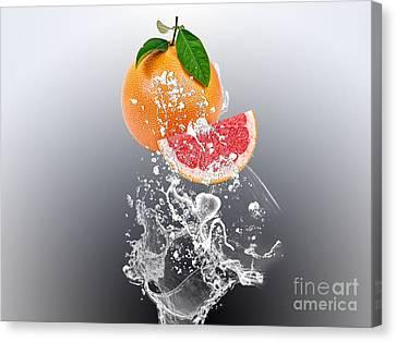Grapefruit Canvas Print - Grapefruit Splash by Marvin Blaine