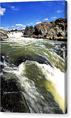 Great Falls Of The Potomac River Canvas Print by Thomas R Fletcher