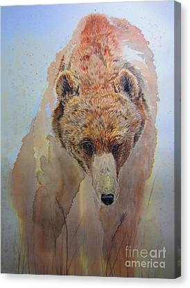 Grizzly Canvas Print by Laurianna Taylor