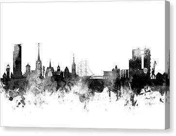 Halmstad Sweden Skyline Canvas Print