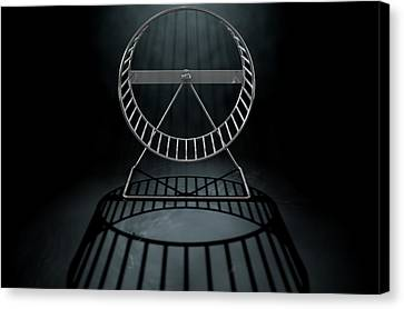 Hamster Wheel Empty Canvas Print by Allan Swart