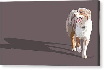 Happy Aussie Canvas Print