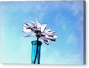 Floral Digital Art Canvas Print - Happy Day by Krissy Katsimbras