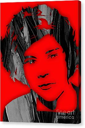 Harry Styles Collection Canvas Print by Marvin Blaine