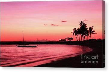 Canvas Print - Hawaiian Sunset by Kristine Merc