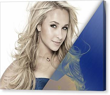 Hayden Panettiere Collection Canvas Print by Marvin Blaine