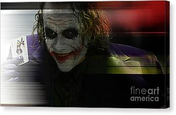 Heath Ledger Canvas Print by Marvin Blaine