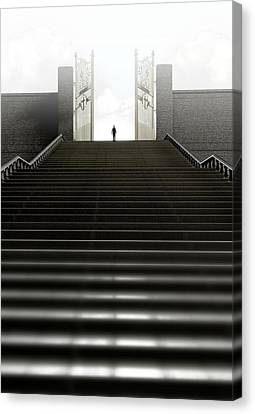 Heavens Gates And Silhouette Canvas Print by Allan Swart