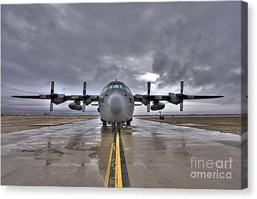 High Dynamic Range Image Of A U.s. Air Canvas Print by Terry Moore