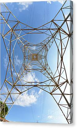 High Voltage Pylon Canvas Print by George Atsametakis
