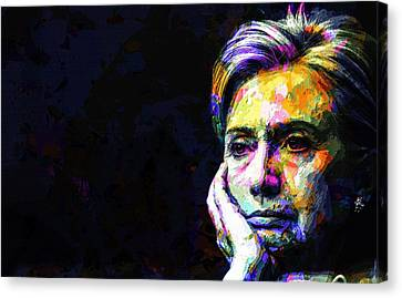 Hillary Clinton Canvas Print by Svelby Art