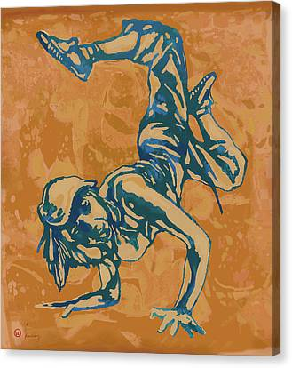Dancing Canvas Print - Hip Hop Street Dancing  New Pop Art Poster   by Kim Wang