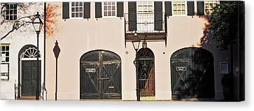 Historic Houses In Rainbow Row Canvas Print