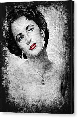 Hollywood Greats Elizabeth Taylor Canvas Print
