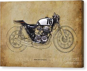 Honda Cb750 Cafe Racer Canvas Print by Pablo Franchi