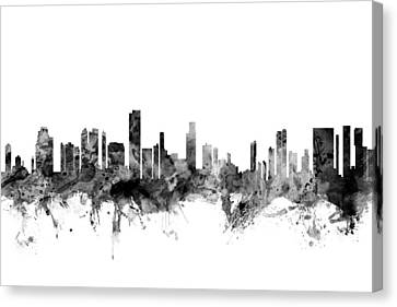 Honolulu Hawaii Skyline Canvas Print