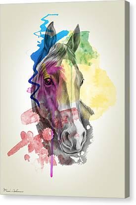 Caricature Canvas Print - Horse   by Mark Ashkenazi